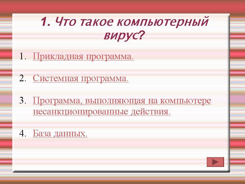 Презентации по теме компьютерные вирусы