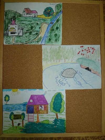 """Рисунок 6. Домик похож на деревенскую избу, наверное, в таком доме могли бы жить Маша и Ванюша из сказки  """"Гуси-лебеди """"..."""