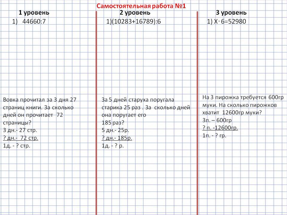 Деление многозначных чисел на однозначное контрольная работа 1051