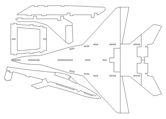 Самолет из потолочной плитки своими руками чертежи