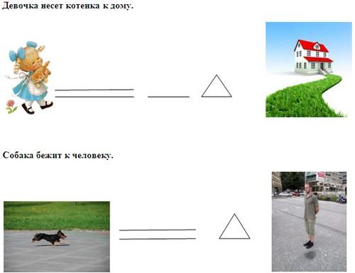 на схеме треугольником.