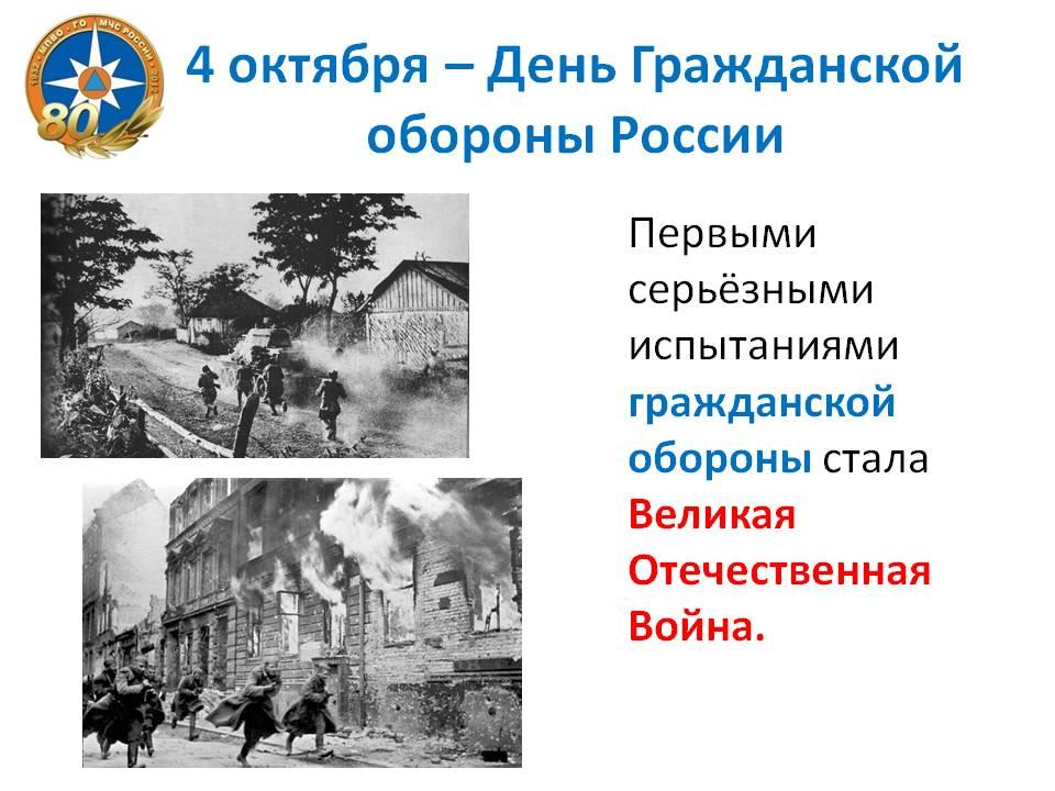 гражданской обороне бесплатно презентация в россии