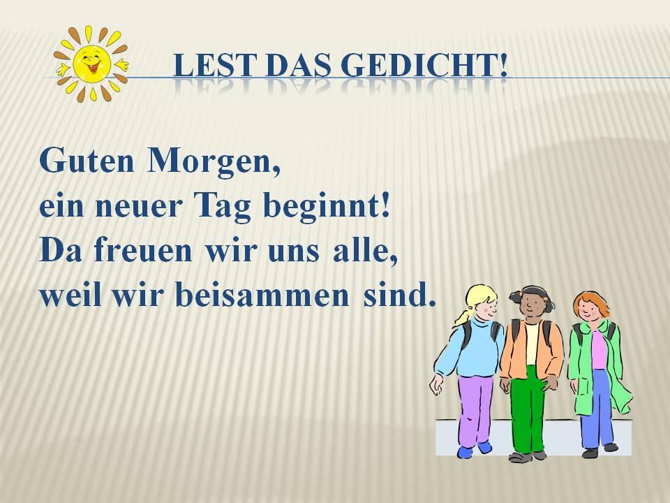 презентация по немецкому языку режим дня