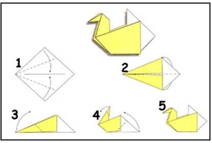 Как сделать курицы из бумаги
