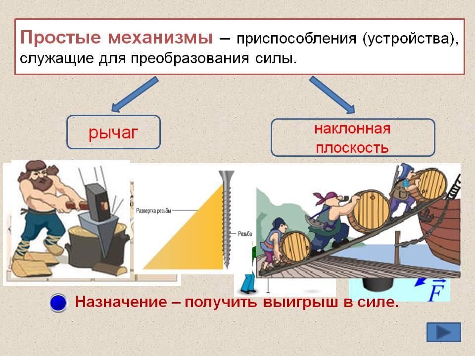 Доклад простые механизмы рычаг 6582