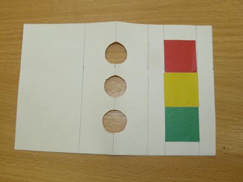 Как сделать светофор из бумаги своими руками схема 87