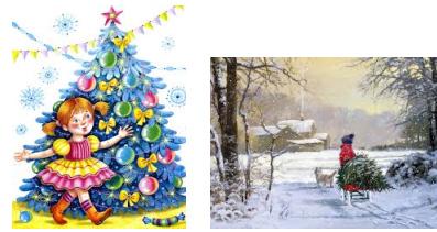 Картинки зимы по украйинскому для детей