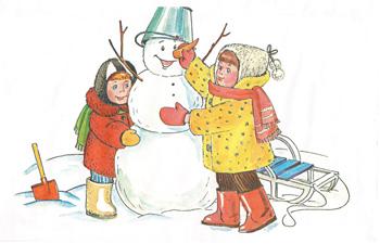 средняя группа конспект занятия по развитию речи рассматривание картины зимние забавы