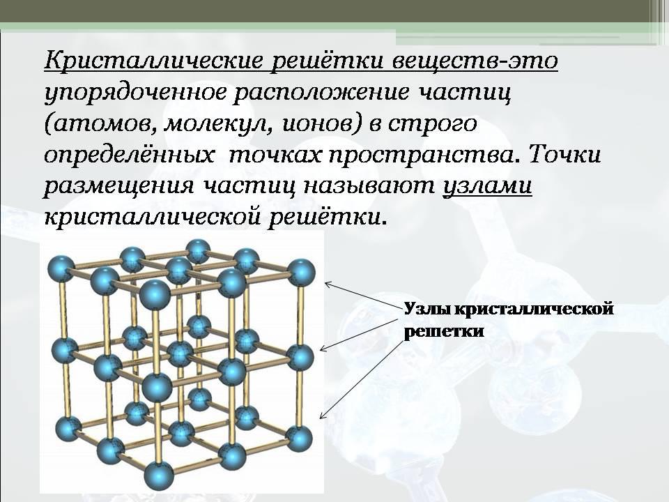 Основные типы кристаллических решеток реферат 8902
