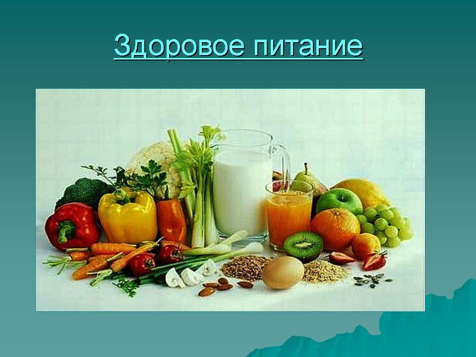здоровое питание классный час