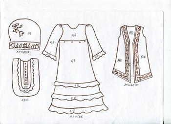 Как сшить татарский костюм для девочки выкройка 21