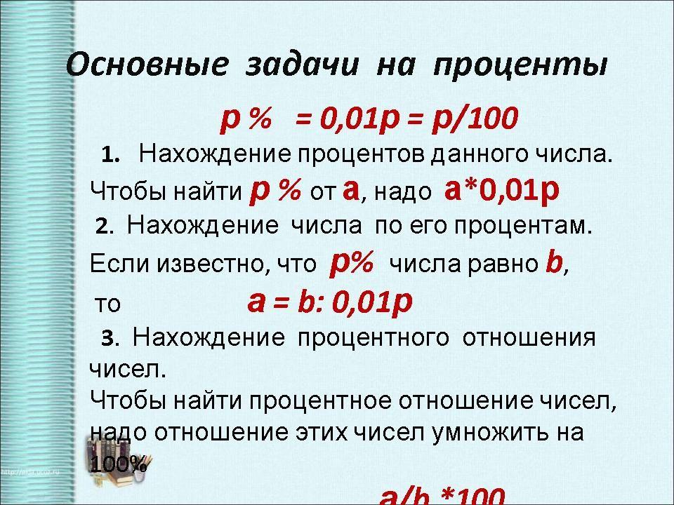 Решение задачи на проценты 11 класс егэ формулы решения задач по тактике