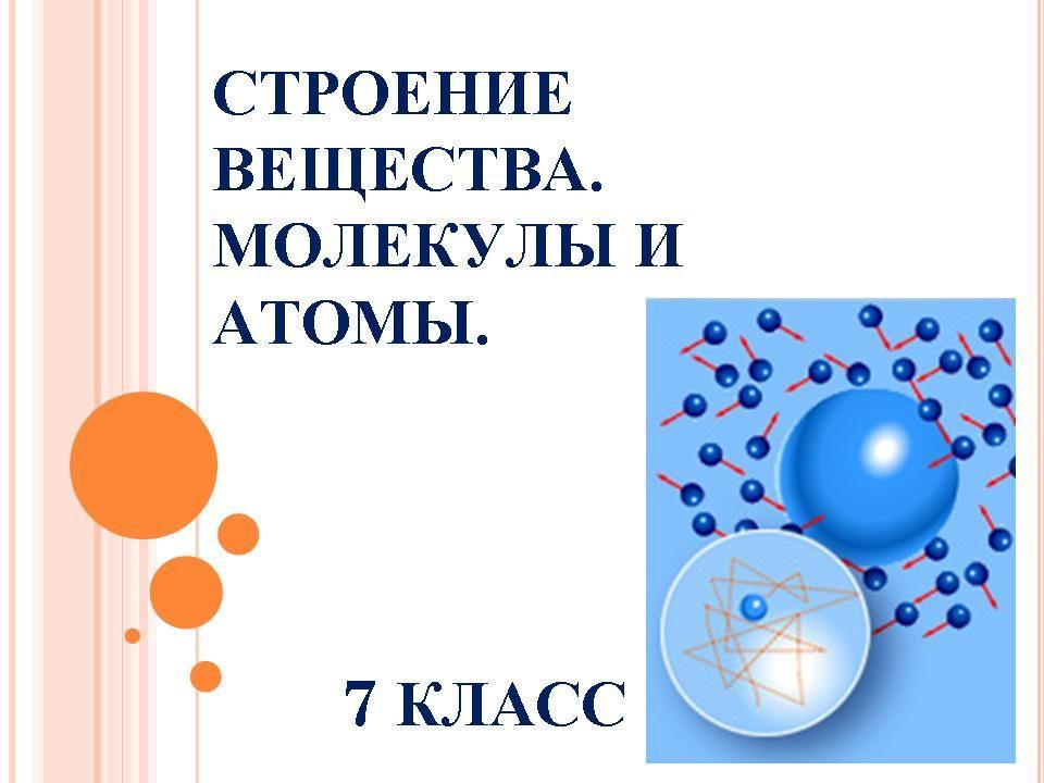 Молекулы и атомы доклад 2296