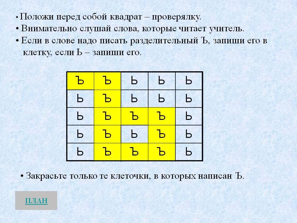 правописание слов с мягким знаком урок русского языка