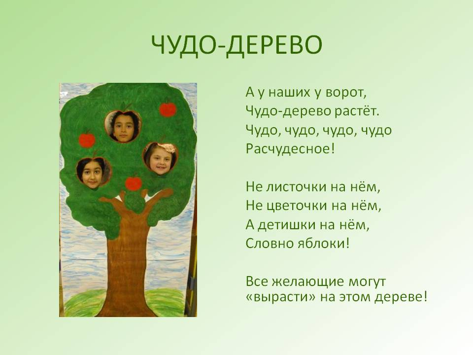 Сценарий о деревьях для начальной школы