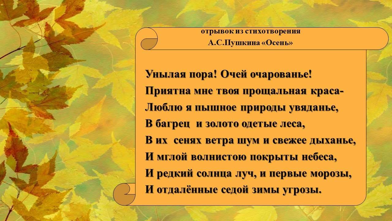 требований, стих про осень 1 класс пушкин для глаз стихах