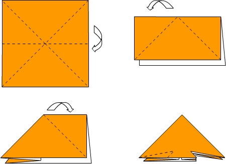 Схема изготовления оригами: